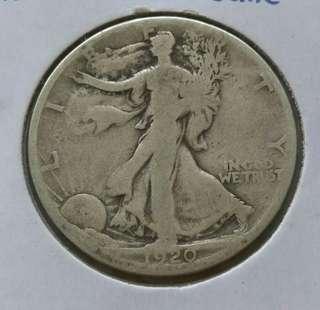 USA 1920-S Walking Liberty Half Dollar Silver Coin