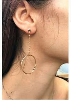 BN Brandy Melville Silver Hoop Drop Earrings