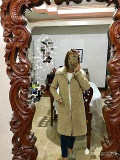 Winter/ Autumn Coat With Detachable Fur