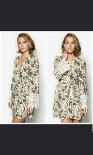 Indikah Tropical Summer Wrap Dress #DEC30