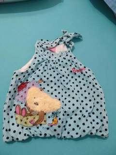 Polkadot baby blue Tops