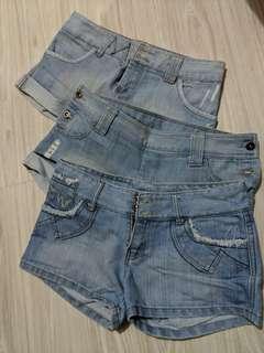 Denim Shorts uk8 uk10
