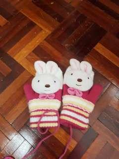 Winter rabbit gloves