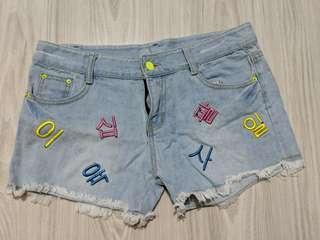 Korean Denim shorts