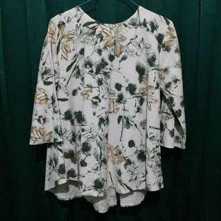 Green Flowery Blouse