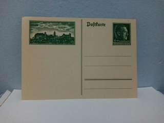 1938 Germany Postal Card Hitler
