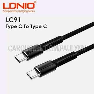 🚚 Type C to Type C Cable LDNIO LC91 USB C Cable