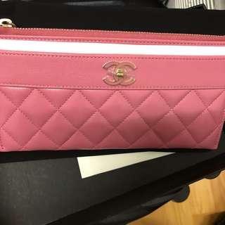 勁靚Barbie pink Chanel 銀包pink cc logo