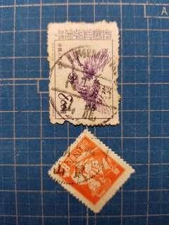 文字由右到左郵戳:龍山、鼠山
