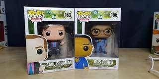 Funko Pop Saul Goodman and Gus Fring