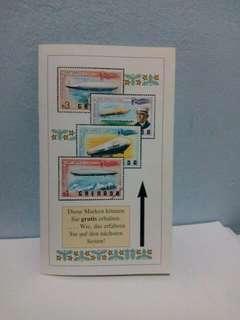 Vintage Germany Reply Postal Card Zeppelin