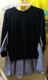韓國 間條 長衫
