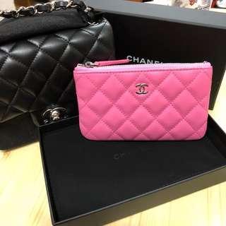 Chanel coins bag pouch Barbie pink 勁靚粉紅色