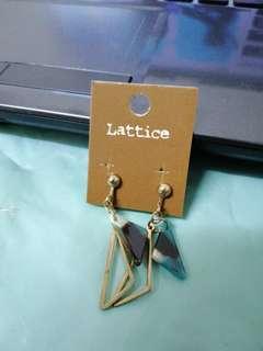 Earrings 幾何 三角耳環 耳夾 適合無耳洞帶 無耳洞耳環 包平郵