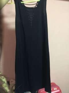 Navy Blue 3/4 Maxi Dress