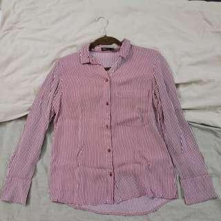 Bershka BSKGIRL edition Stripped Shirt Size S