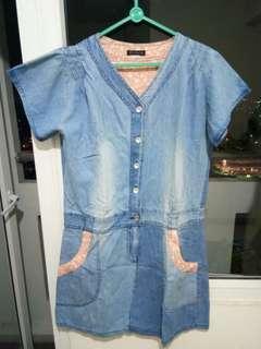 Mini dress jeans