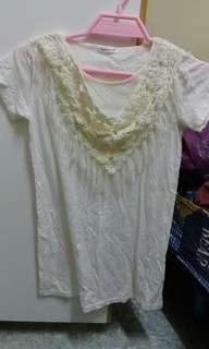米色 短袖衫