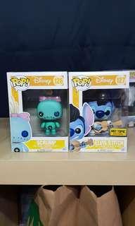 Scrump and Elvis Stitch Funko Pops!