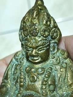 🚚 老件尼泊爾黃財神密宗佛像