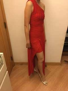 Bandage red ball dress