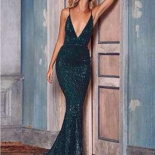 Sequin formal gown