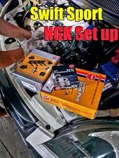 Suzuki Swift NGK Setup ( coil + spark wire + NGK RX PREMIUM )