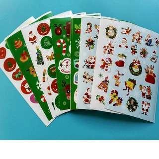 🚚 聖誕貼紙 9款 每款10張 共90張