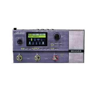 Mooer GE200 Multi Effects Processor (with IR Loading Capabilities) - Free GE200 Soft Carry Case for Limited Time
