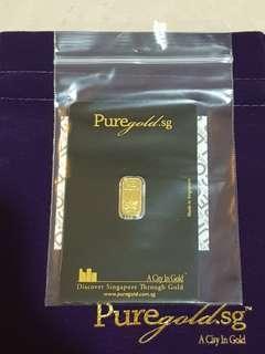 BN Sealed Puregold.sg Diwali Lamp 999.9 1g Pure Gold Bar
