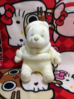 Winnie the Pooh 小熊維尼 全白 東京廸士尼 舊版聖誕服 毛公仔 Tokyo Disneyland