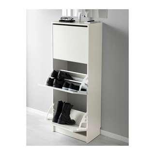 IKEA SHOE CASE 白色三層鞋櫃 (90% New)