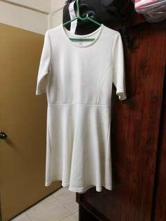 Cotton on off white dress