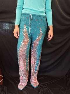 Leisure cambodian pants turqoise