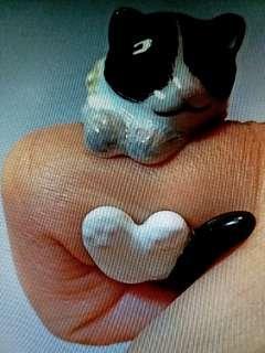 聖誕優惠可愛3D Cat貓貓 造型女裝金屬介子 Ring