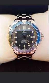 🚚 Iconic pristine 41.5mm omega seamaster bond blue wave dial quartz
