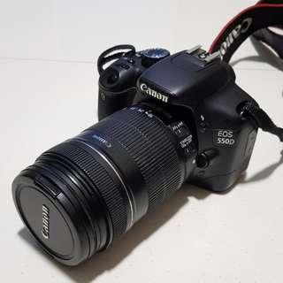 Canon 550D with 18-135mm zoom lens