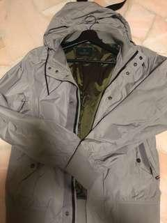 SCOTCH & SODA Grey Windbreaker with hood Size M