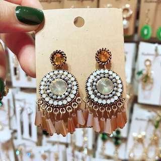 <free pos 3 pairs & above> bohemian earrings 😘 (backhook)