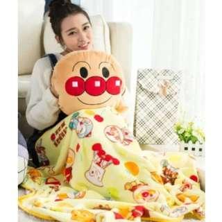 Pooh Eeyore Piglet Sulley Tigger Tsum tsum Anpanman Pillow with Blanket★Kiki★Lala★Cushion★Kids Children Girlfriend gift★Christmas present