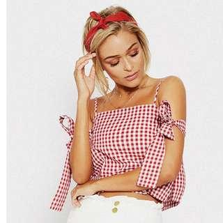 Red and white summer top!