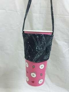 🚚 手做-星空環保杯套 飲料提袋 環保提袋 好收納 可插吸管