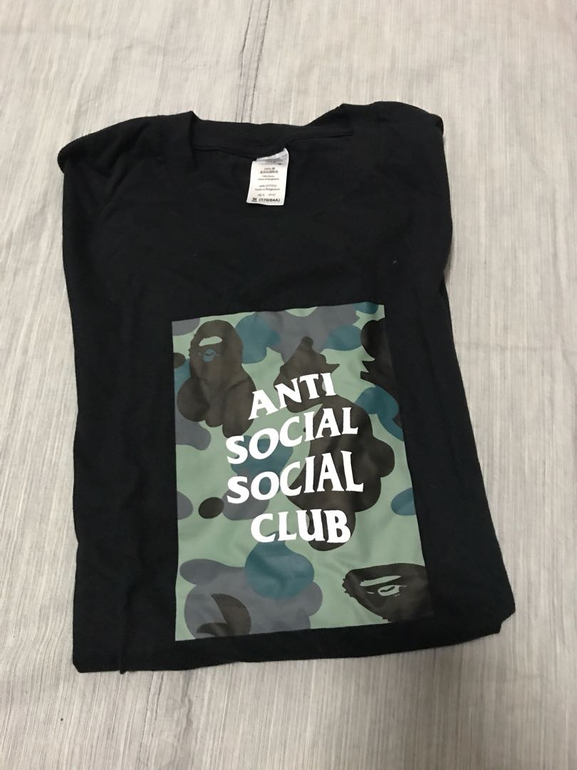 55d0df303da0 Antisocial social club army print tee, Men's Fashion, Clothes, Tops on  Carousell