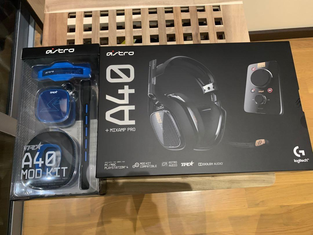 Astro A40 TR Headset + MixAmp Pro + TR⭐ A40 Mod Kit
