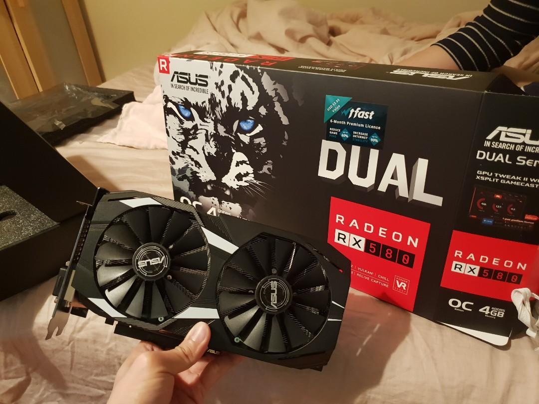 ASUS Radeon RX580 4GB Dual OC PCIe Video Card DUAL-RX580-O4G