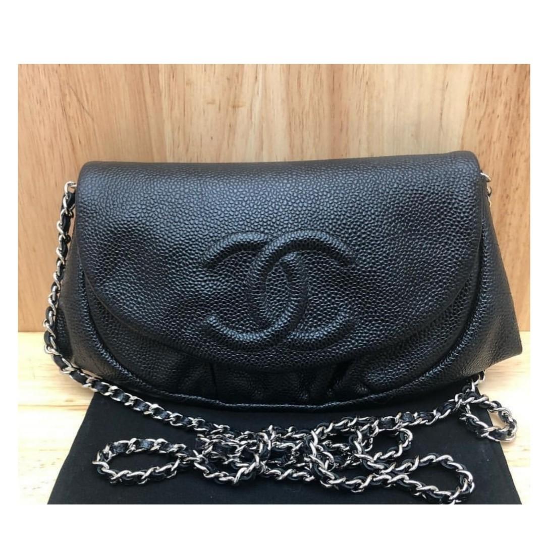 d195689e4bbe Authentic Chanel Half Moon WOC, Barangan Mewah, Beg dan Dompet di ...