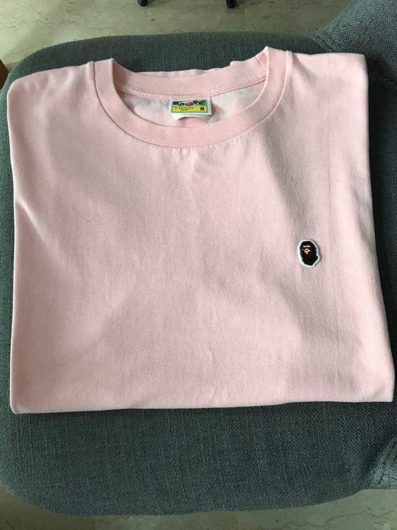 73e26846 Bape small logo tee pink, Men's Fashion, Clothes, Tops on Carousell
