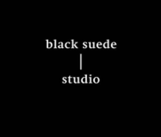 Black suede studio leather boots 7 37