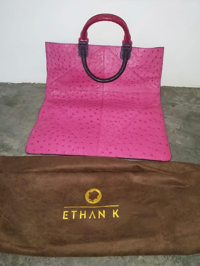 875f074f9957 BN - Ethan K 100% ostrich skin - pink