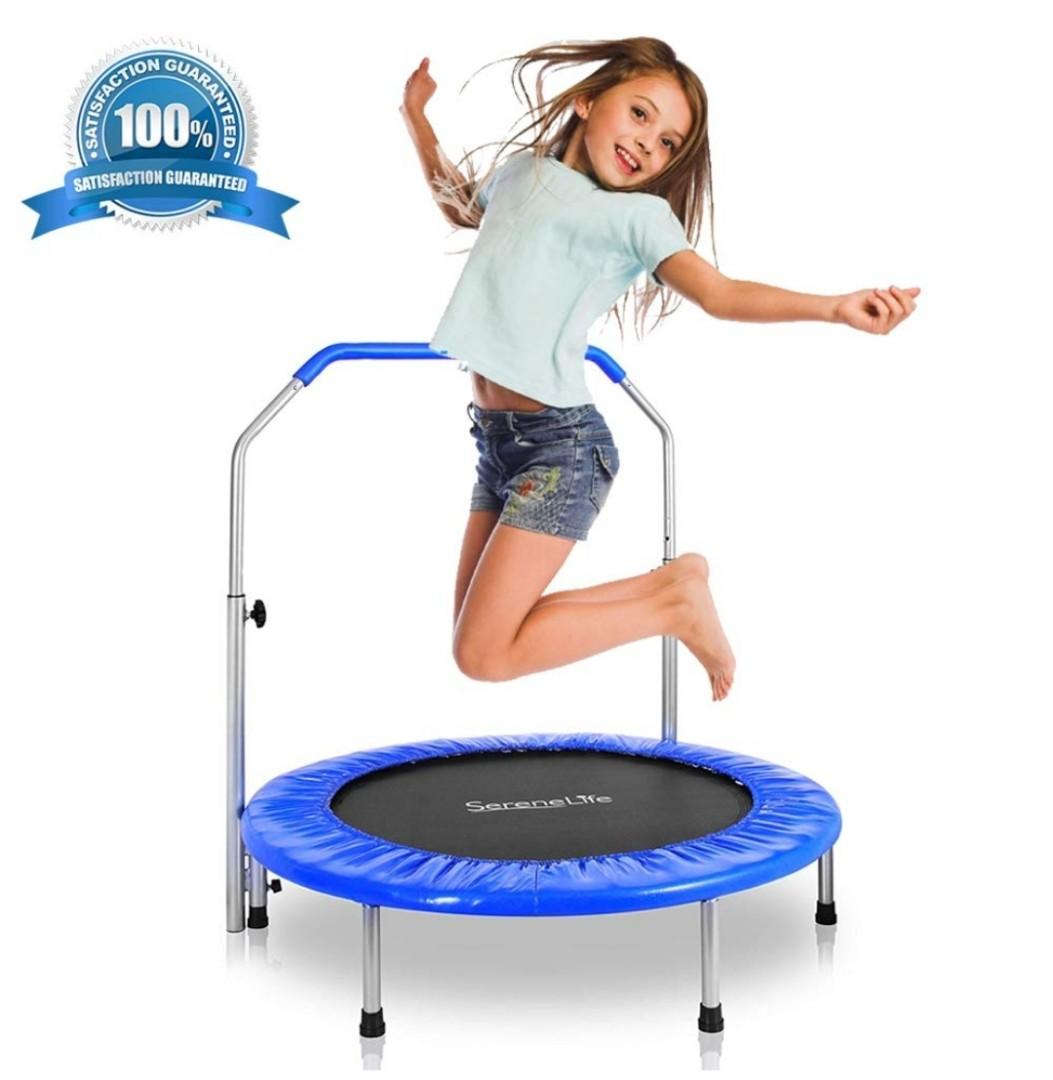 "40/"" Mini Rebounder Folding Trampoline Jump Exercise Home Gym Fitness Jumper New"